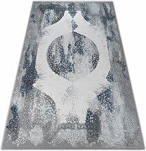 Tapis ACRYLIQUE VALENCIA 5040 ORIENT bleu / gris