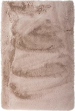 Tapis antidérapant en fausse fourrure, couleur