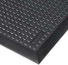 tapis antifatigue résistant individuel noir