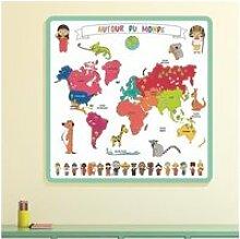 Tapis carte du monde à colorier - l 50 x l 50 x h