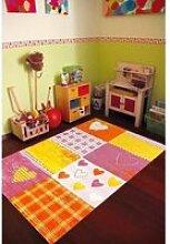 Tapis chambre  bambino coeur rose 80 x 150 cm