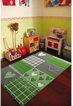 Tapis chambre filles BAMBINO COEUR vert 120x170,