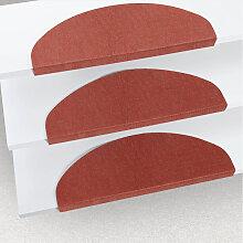 Tapis d'escalier auto-adhésif rouge 15 pcs 65
