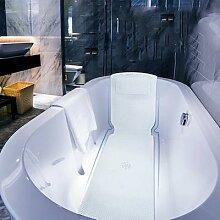 Tapis de baignoire antidérapant, ventouse,