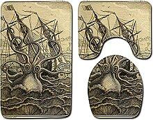 Tapis de Bain antiderapant 3D Tapis de Bain Poulpe