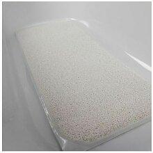 Tapis de bain antidérapant Antigua - Blanc