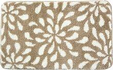 Tapis de bain beige 100x60 en polyester