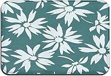 Tapis de bain d'été à motif floral - Tapis