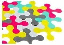 Tapis de bain puzzle multicolore - prince lionheart