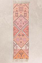 Tapis de Couloir en Jute et Tissu (170x40 cm)