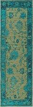 Tapis de couloir turquoise 80x250
