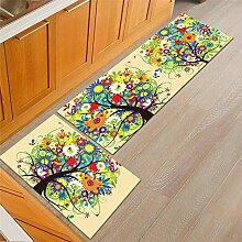 Tapis de Cuisine avec Imprimé Plante Paysage,