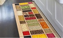 Tapis de cuisine en PVC: 52 x 280 cm / Bois d