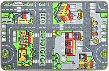 Tapis de jeu - Circuit de voiture en ville - 100 x