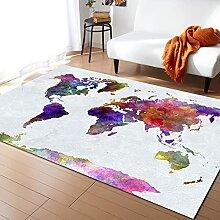 Tapis de Maison Carte du Monde Tapis de Terre pour