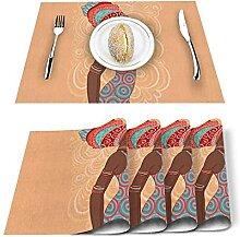 Tapis de plaques Tapis de table 4 / 6PCS,