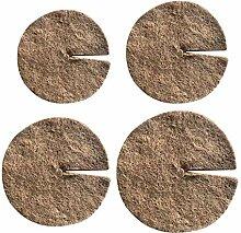 Tapis de protection rond en fibre de coco pour