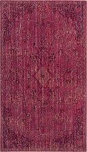 Tapis de salon d'inspiration vintage rouge