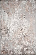 Tapis de salon design vintage Excellence Taupe
