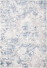 Tapis de salon moderne chic gris et bleu 120x180