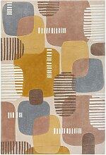 Tapis de salon moderne en Polyester Multicolore