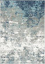 Tapis de salon moderne gris et bleu 120x180