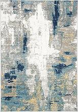 Tapis de salon moderne gris et or 160x230