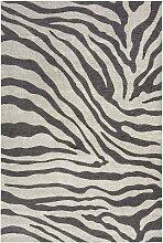 Tapis de salon moderne imprimé zèbre  120x170 cm