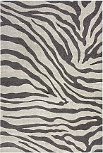 Tapis de salon moderne imprimé zèbre 160x230 cm