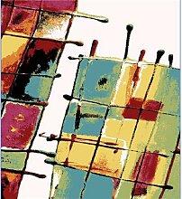 Tapis de salon multicolore design CORAL