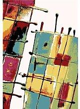 Tapis de salon multicolore design LOWELL