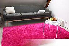 Tapis de Salon Satin Rose Fuchsia 160x230 cm -