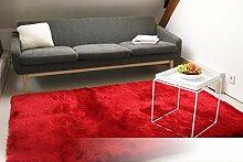 Tapis de Salon Satin Rouge 140x200 cm - Tapis