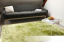 Tapis de Salon Satin Vert 140x200 cm - Tapis