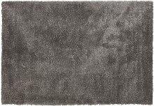 Tapis de salon shaggy 'TISSO' gris foncé