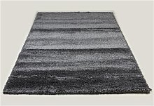 Tapis de salon shaggy anthracite SPENCER 8