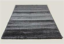 Tapis de salon shaggy anthracite SWEET 8