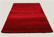 Tapis de salon shaggy rouge SPENCER 3