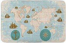 Tapis de sol avec carte géographique de