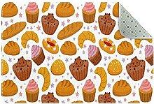 Tapis de sol rond avec motif de pâtisserie