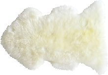Tapis Douchka peau de mouton coloris blanc