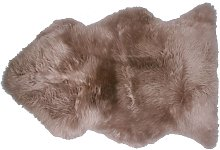 Tapis Douchka peau de mouton coloris brun
