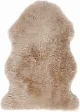 Tapis Douchka peau de mouton coloris lin