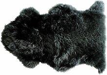 Tapis Douchka peau de mouton coloris noir