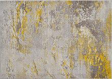 Tapis écru et jaune 160 x 230 cm CAPS
