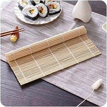 Tapis en bambou pour préparation de sushi,