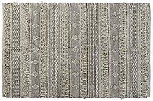 Tapis en Coton de la Ligne Textile, Blanc, 120 x