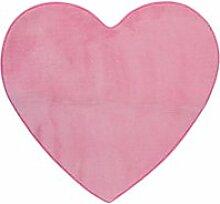 Tapis en forme de coeur rose 80x74cm