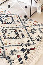 Tapis en laine (205x120 cm) Erbe Blanc Cassé Sklum