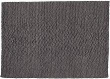 Tapis en laine grise 200x300